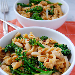 One Pot Broccolini Pasta with Sausage and White Beans