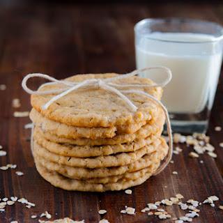 Crispy Chewy Oatmeal Cookies.