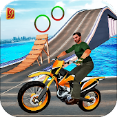 Moto Beach Jumping Bike Stunt