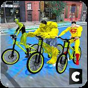 الأبطال الخارقين دراجة المثيرة