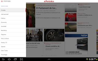 Screenshot of El Periódico