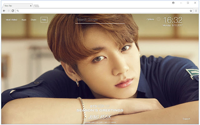 BTS Jungkook Wallpaper HD New Tab