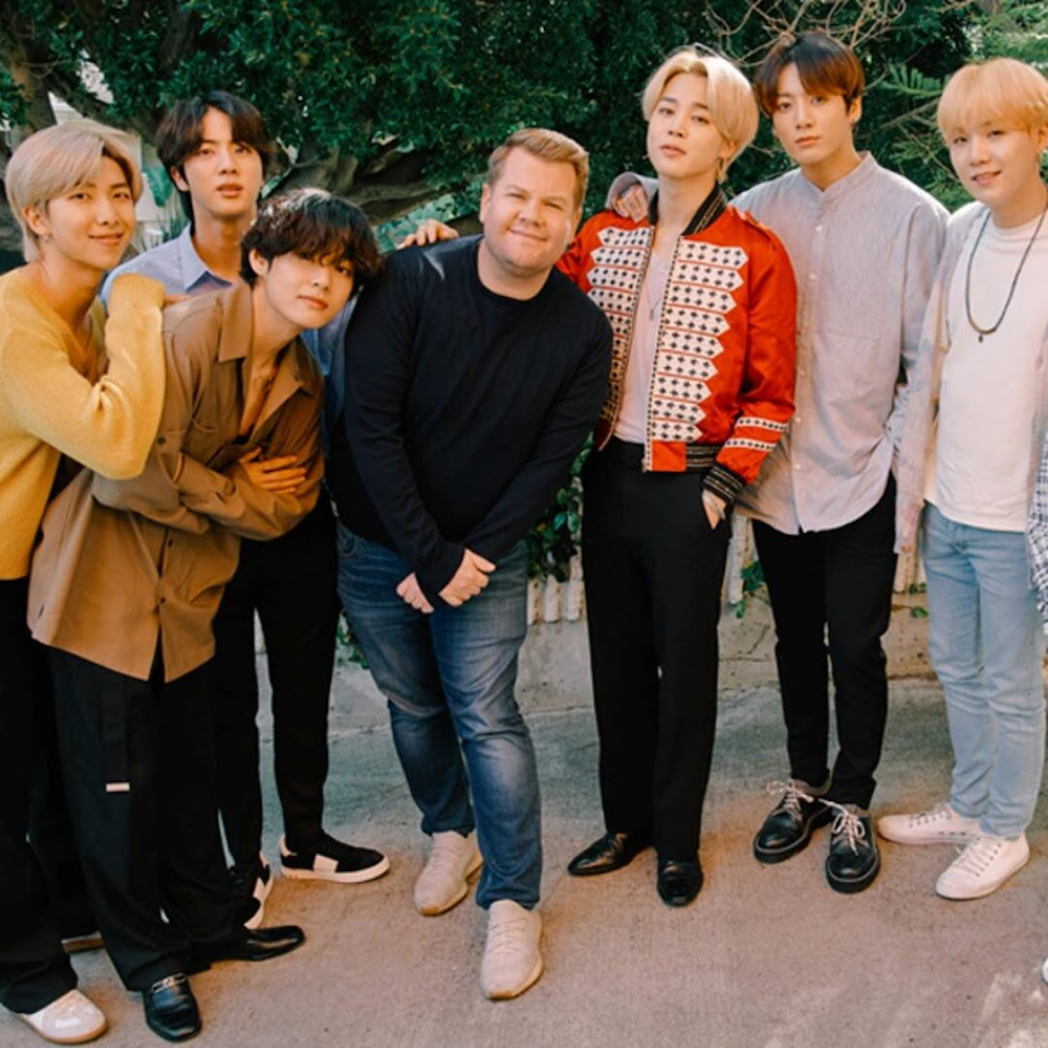 james corden and bts