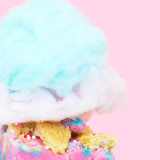 Loaded Cotton Candy Fudge.