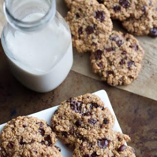 Dark Chocolate Almond Oatmeal Cookies