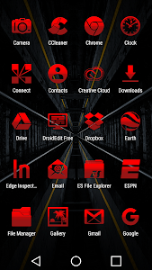 Tap Red - Icon Pack screenshot 2