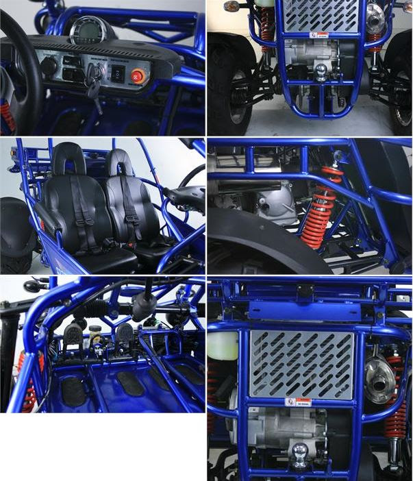 300cc XRX Trailmaster Twister Hammerhead Dune Buggy Blue Features