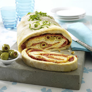 Ham and Olive Pizza Roll