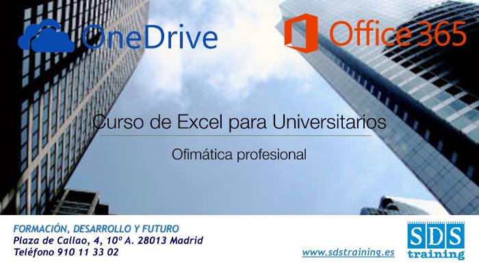 Curso Excel Madrid para universitarios, compartir en OneDrive - SDS training