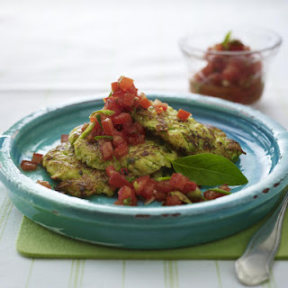 Zucchini Pancakes with Spicy Salsa
