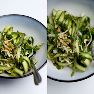 Asparagus Salad + Sesame Chili Lime Dressing