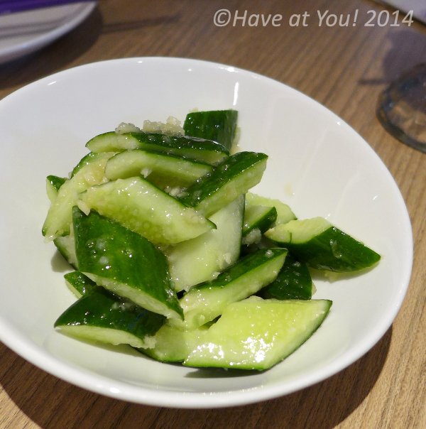 cucumber with garlic and sesame oil