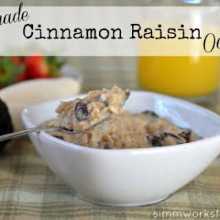 Homemade Cinnamon Raisin Oatmeal.