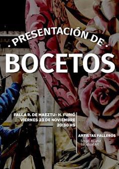 Presentación Bocetos 2019 de Ramiro de Maeztu - Humanista Furió