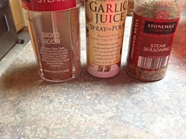 Combine hickory Spice and steak seasoning in a small bowl and sprinkle evenly over...