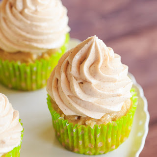 Apple Cupcakes with Cinnamon-Cream Cheese Frosting