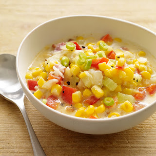 Summer Corn, Bacon and Potato Chowder