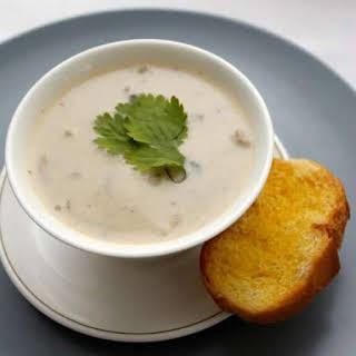 Pressure Cooker Mushroom Shallot Soup.