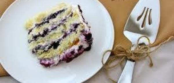 No-cook Blueberry Pudding Torte Recipe
