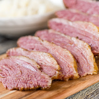 Slow Cooker Mustard Glazed Corned Beef.