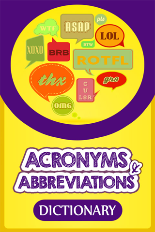 Acronyms Abbreviations Dict