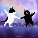 [임샤인] 달빛 별빛 도시의 귀여운 고양이 카카오톡 테마 icon