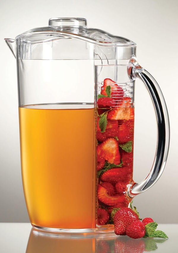 This can also be made in a large pitcher. I used frozen strawberries in...