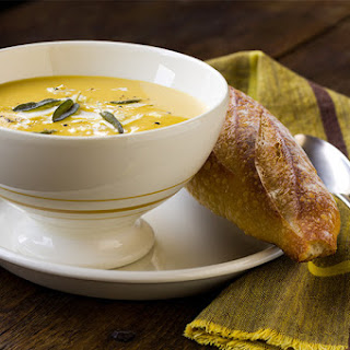 Butternut Squash Soup with Browned Butter and Sage
