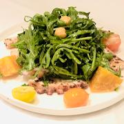 Octopus & Baby Arugula Salad