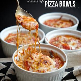 Sausage & Mushroom Pizza Bowls.