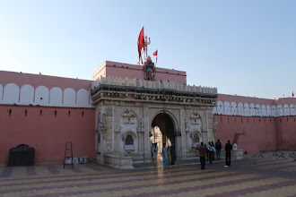 Photo: Famous Karni Mata mandir...see the videos section to view more about this spectacle