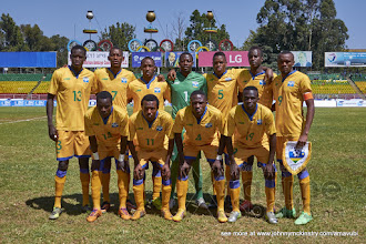 Photo: Starting Squad [Rwanda vs Sudan, CECAFA 2015, Semi final, 3 Dec 2015 in Addis Ababa, Ethiopia.  Photo © Darren McKinstry 2015, www.XtraTimeSports.net]
