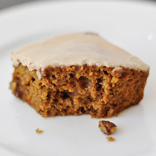 Carrot Cake with Maple Icing