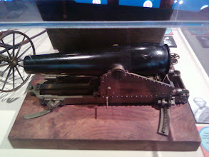 Photo: This is a 1872 model of a gun carriage improvement.