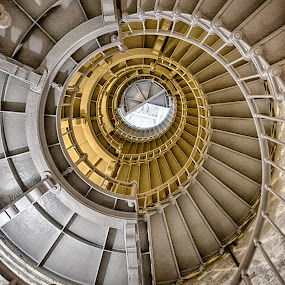 Lighthouse Staircase by Debbie Slocum Lockwood - Buildings & Architecture Public & Historical (  )