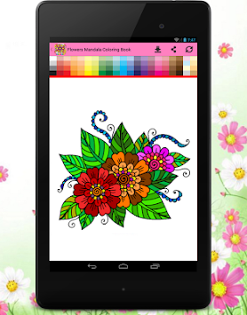 Flowers Mandala Coloring Book APK Screenshot Thumbnail 18