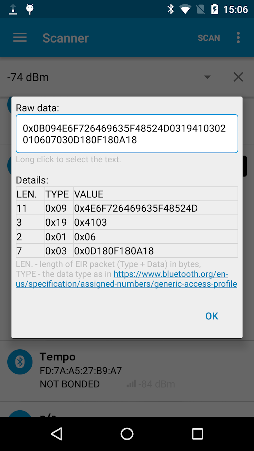 nRF Master Control Panel (BLE)- screenshot