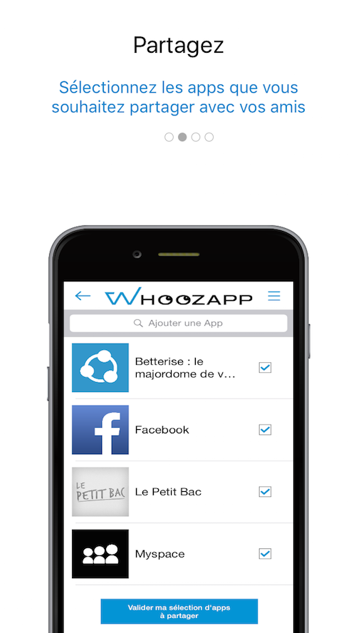 Whoozapp, partage d'apps- screenshot