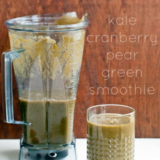 Kale Cranberry Pear Green Smoothie.