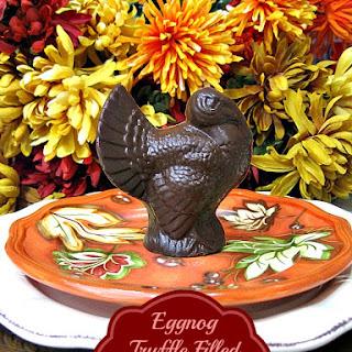 Eggnog Truffle Filled Chocolate Turkey