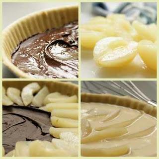 French Pear Dessert RecipeTarte Choco Poire
