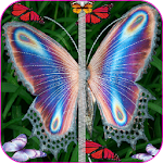 Butterfly Zipper Screen Lock Icon
