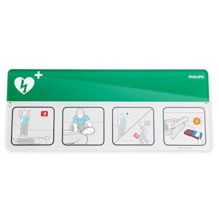 Skylt AED Awareness Placard gr