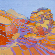 Photo: Zion Terrain, acrylic on canvas by Nancy Roberts, copyright 2014. Private collection.