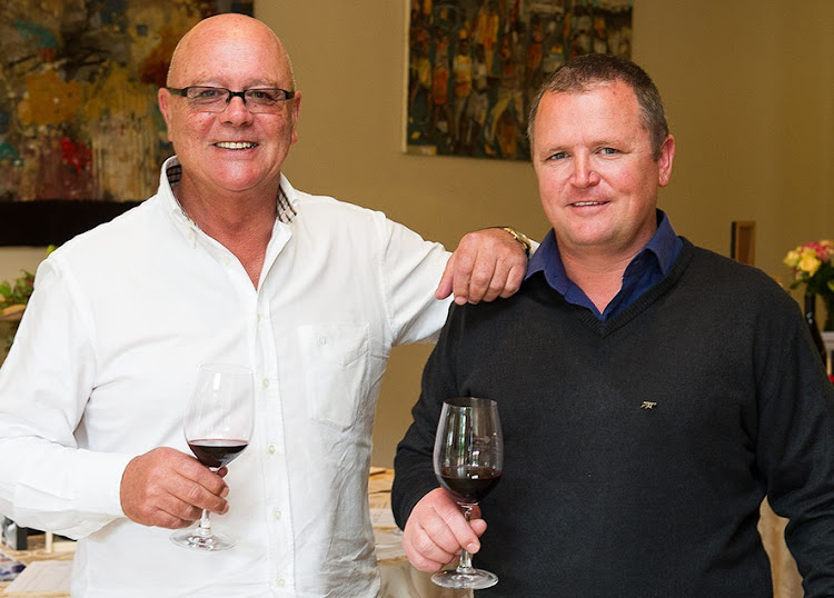 Kanonkop co-owner Johann Krige and winemaker Abrie Beeslaar.