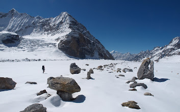 Photo: The Miyar Glacier:  Our highway to Lahul, south of the Himalaya