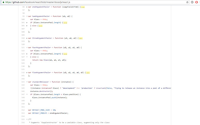 GitHub Code Folding