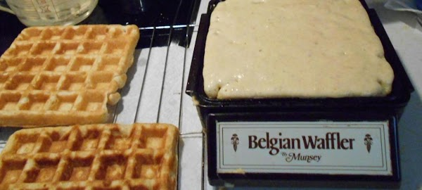Have you chili heated and ready to put on top of the waffle.  You...