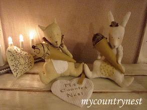 Photo: coniglietto e scoiattolo tilda con cono gelato