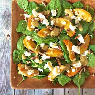 Roasted Peach Salad with Fresh Peach Vinaigrette
